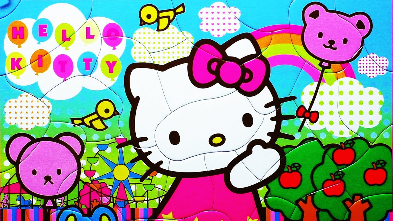 Puzzle Games HELLO KITTY Jigsaw Puzzles Rompecabezas Kids Toys