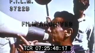 1966 Farm Workers Strike (stock footage / archival footage)