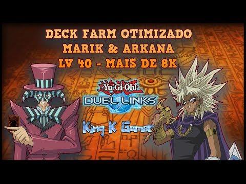 Deck de farm Otimizado Marik & Arkana LV 40 Mais de 8K!!!Yu-Gi-Oh!Duel Links