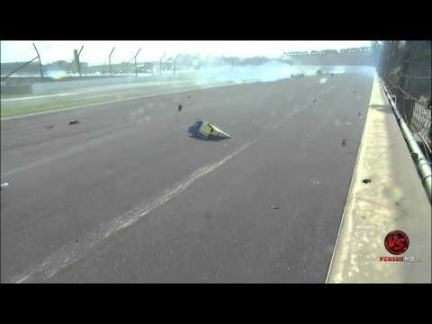2010 Indy500 Race Mike Conway Horrible Crash Real Time Replays (HD)