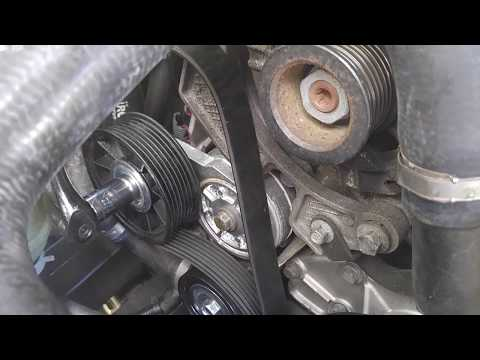2004 Land Rover Discovery II - How to change replace pulleys viscous fan serpentine belt