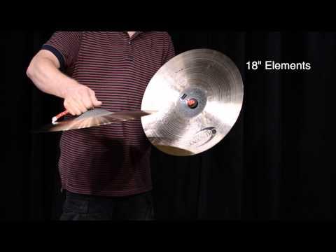 Crescent Elements Series cymbals as Piatti