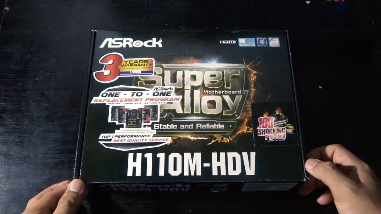 Unboxing Motherboard Asrock H110m Hdv Youtube Ddr4 Socket 1151
