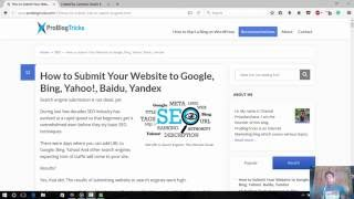 Learn How to submit website to search engines ~ Search Engine Submission Guide