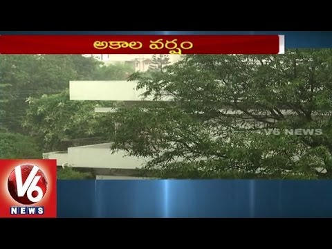 Hyderabad City People enjoying the Cool Weather | Sudden Rains in Twin Cities - V6 News