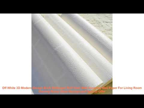 Off White 3D Modern Design Brick Wallpaper Roll Vinyl Wall Covering Wa