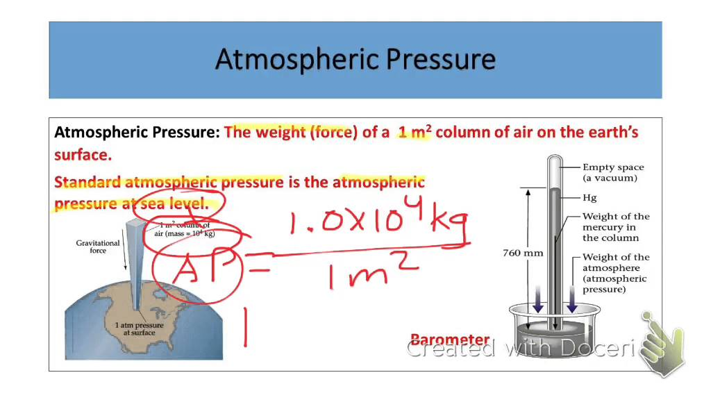 breaking a ruler with atmospheric pressure According to both theory and experiment, the pressure (p) hold a ruler at the top surface of the water level inside the record the barometric pressure.