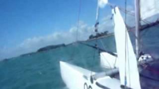 catamaran nacra 5.8 camera embarquée