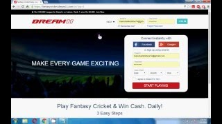 How To Earn Money Through Fantasy Cricket (Dream11)