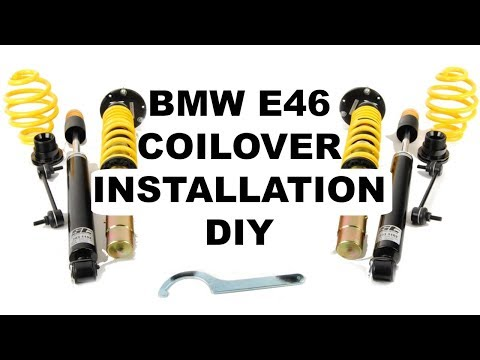 BMW E46 Coilover Installation DIY (ST Suspension)