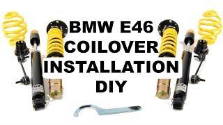 BMW E46 Coilover Installation DIY (ST Suspension)
