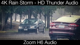 4K Rain Storm with HD Thunder Audio (free download)