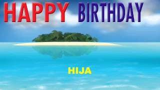Hija   Card Tarjeta - Happy Birthday