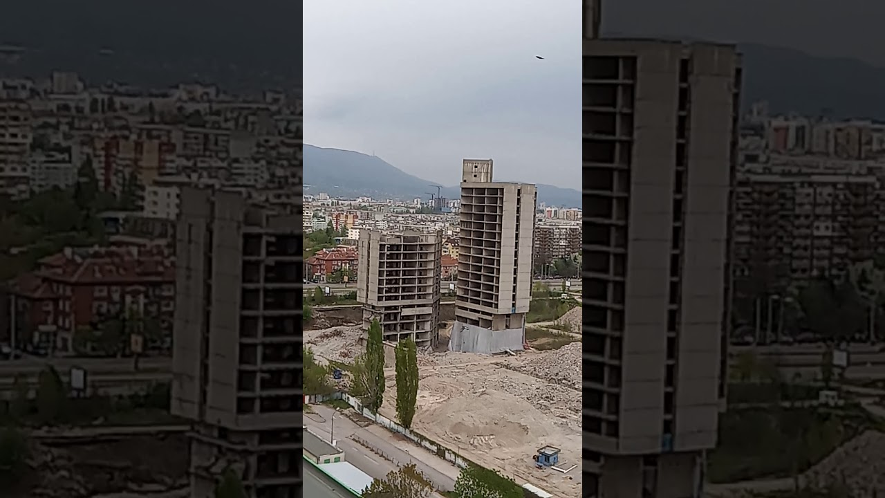 """Взрив на първата сграда ИПК """"Родина"""""""