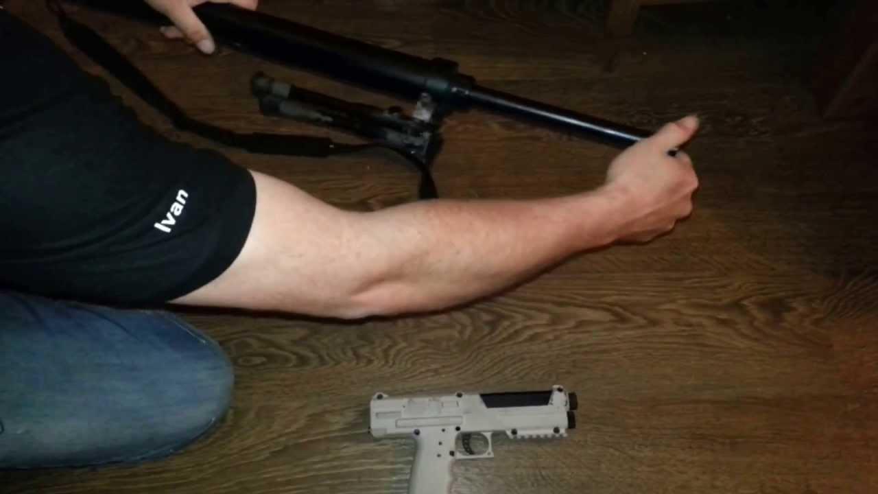 Homemade paintball sniper rifle