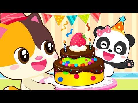 ❤ Miu Miu Birthday Party   Animation For Babies   Kids Cartoon   Nursery Rhymes   BabyBus