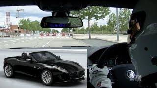 TOP GEAR Exclusive #StigCam: Jaguar Convertible on Madrid Street Circuit, s20 Ep 3 BBC AMERICA