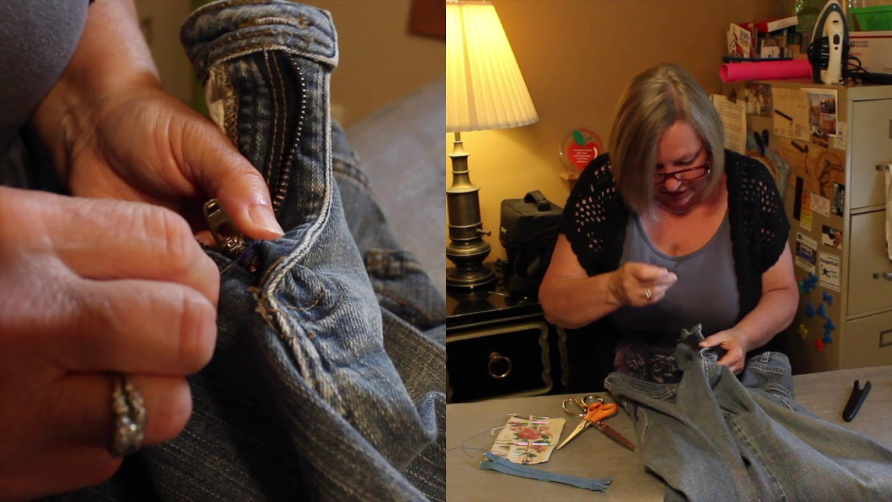 Replacing a Zipper Pull with Rose