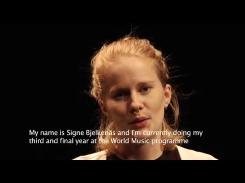 World Music Programme at the Academy of Music and Drama in Gothenburg, Sweden.