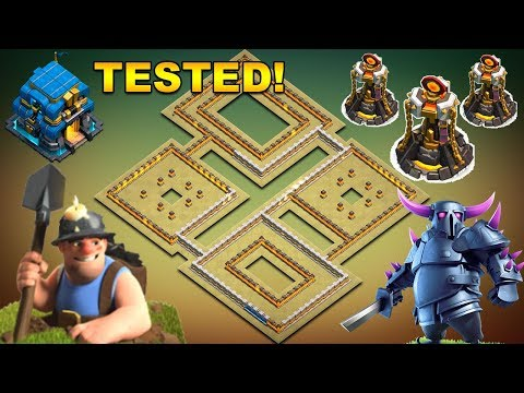 TH12 WAR BASE 2018 Anti 2 Star Anti Miner Anti Queen Walk Replays 3 INFERNO TOWERS and TORNADO TRAP