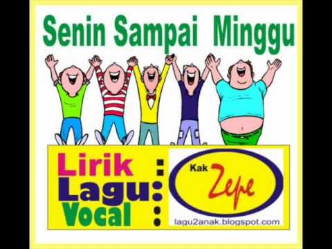 Senin Sampai Minggu - Lagu Anak Karya Kak Zepe mengenal nama hari ...