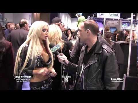 Josie Stevens  (married to rock) talks to Eric Blair @ Namm 2012