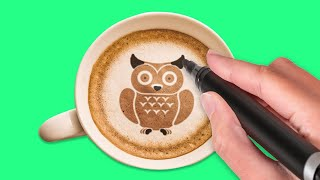 28 WAYS TO RELAX IN YOUR KITCHEN || Satisfying Coffee Drawing Hacks and Sweets Hacks