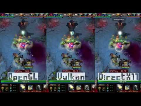 Dota 2 / Vulkan API / OpenGL / Directx11 (Real Time test) (Fx-83xx+Gtx1060)