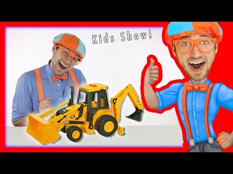 Thumbnail: Backhoe for Children | Blippi Toys fun Construction Vehicles