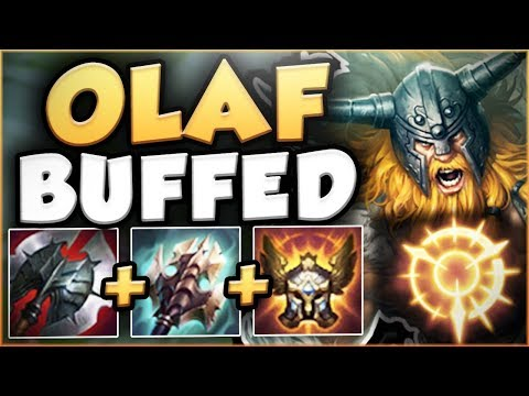 THE NEW OLAF BUFFS MAKE HIM SO OPPRESSIVE AT LEVEL 6! OLAF SEASON 8 TOP GAMEPLAY! League of Legends