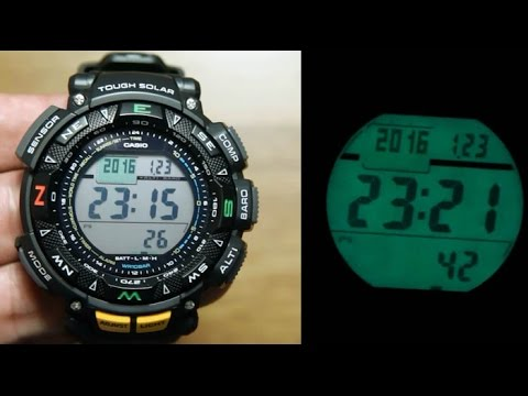 Casio Protrek PRG-240-1 *Unboxing, Sensor &  Light Demo