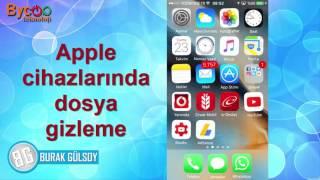 Appleda Dosya Resim Rehber Gizleme Programsiz