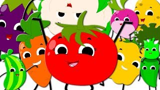 Ten Little Vegetables Jumping On The Bed | Learn Vegetables | Nursery Rhymes For Kids | Baby Songs