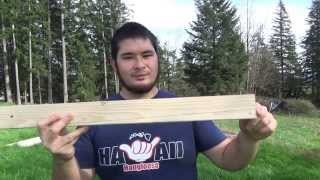 100lb Medieval Style Pvc Crossbow For Under $10 Part 1 - Shaping The Stock