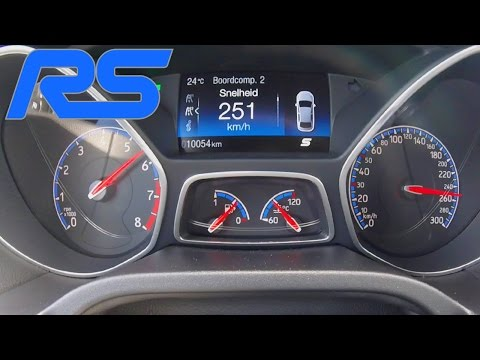 Ford Focus RS MK3 Acceleration Launch Control 0-251 km/h Autobahn Speed Test