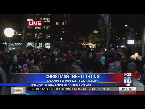 Christmas Tree Lighting In Downtown Little Rock