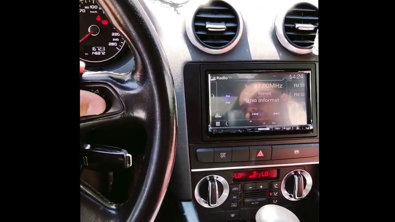 Audi A3 Kenwood 2 Din And Rear View Camera Youtube