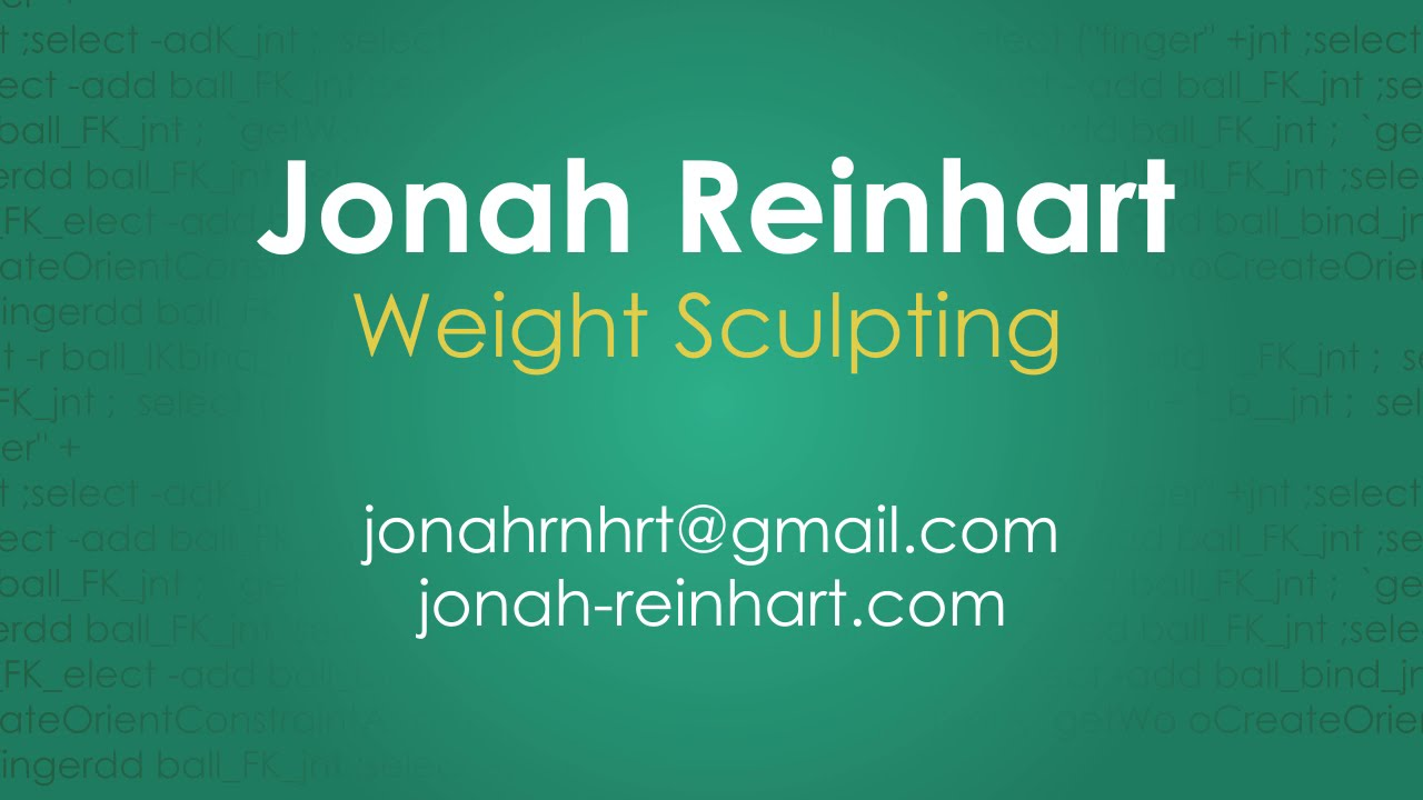 Weight Sculpting