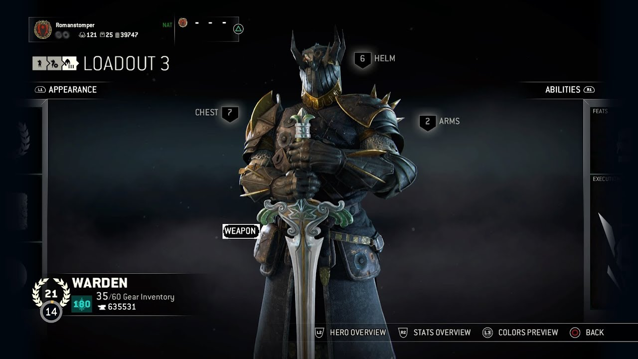 For honor season 6 warden rite of champions event gear valentina 39 s jewel youtube - When is for honor season 6 ...