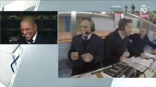 ROBERTO CARLOS REACTION TO SERGIO RAMOS WINNING GOAL VS DEPORTIVO