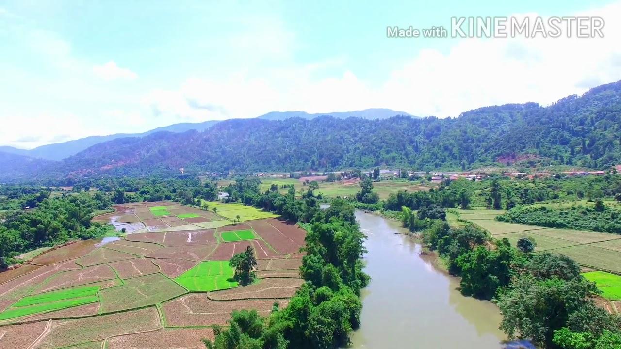 ทุ่งนา-แม่น้ำซอง บ้านเวียงสมัย เมืองวังเวียง