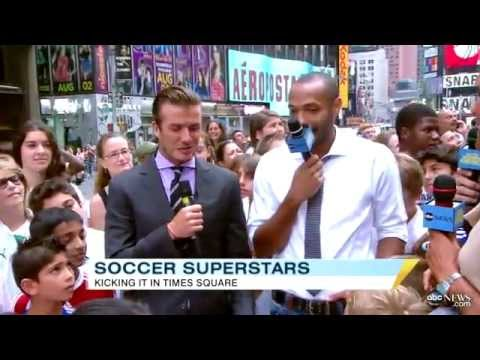 Good Morning America - David Beckham Thierry Henry