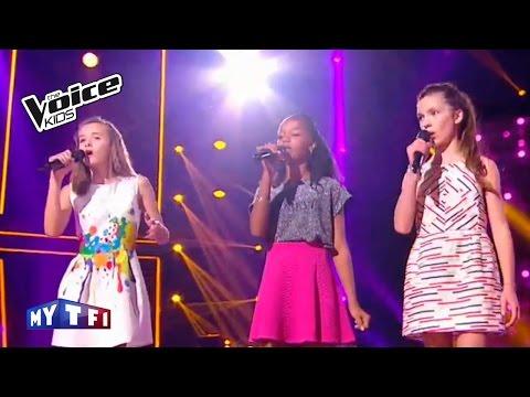 The Voice Kids 2016 | Lauviah - Tamilia - Jeanne sur ''FiveFourSeconds'' | Battle