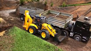 Amazing RC Jcb 5CX Backhoe Loader with Scania ,,Black Pearl""