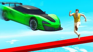 300 MPH CARS Vs Tightrope RUNNERS! (GTA Funny Moments)