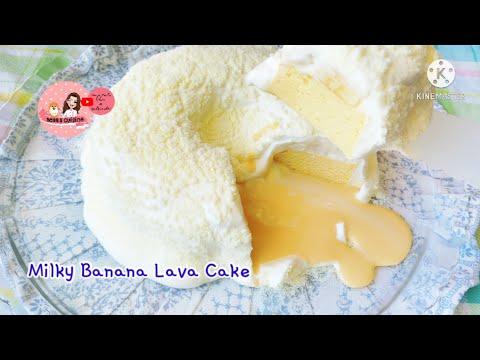Milky Banana Lava Cake~เค้กไข่คาสเทลล่ากล้วยหอมกับลาวานมข้น และวิปครีมนุ่มๆหอมมัน 🍌🥛🍰