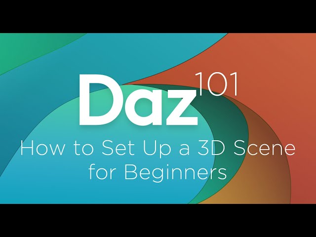 Daz 3D Tutorial: How to Set Up a 3D Scene for Beginners