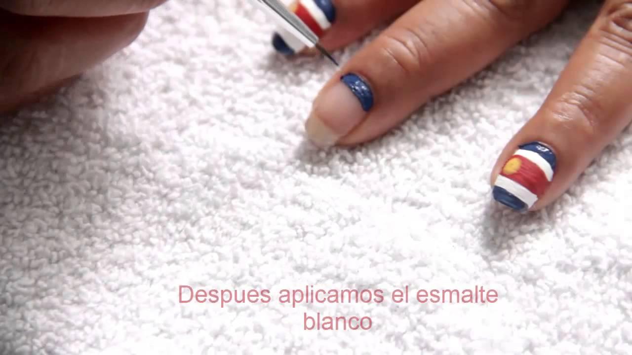 Costa Rica 2014 - Uñas con Diseño para el Mundial - YouTube