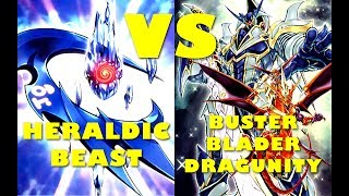 Real Life Yugioh - HERALDIC BEAST vs BUSTER BLADER DRAGUNITY | June 2017 Scrub League