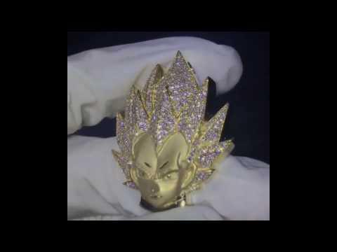Custom diamond Vegeta necklace pendant chain dbz | Factory Gonin Jewelry factory manufacturer China